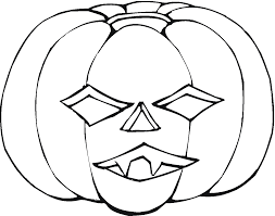 Free Printable Scary Halloween Pumpkin Stencils by Pumpkin Coloring Pages Getcoloringpages Com