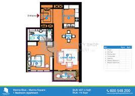 1 bedroom floorplans marina blue marina square al reem island