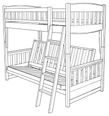 White Futon Bunk Bed Assembly Of Cinnamon Futon Bunk Bed How To Assemble