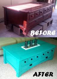 furniture painted coffee table ideas pastel color square vintage