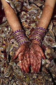 indian bride with henna stock image image of tattoo 14650859