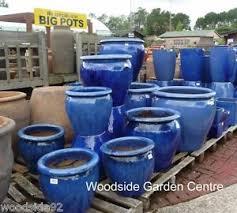 extra large blue glazed pot tree planter garden pots essex large