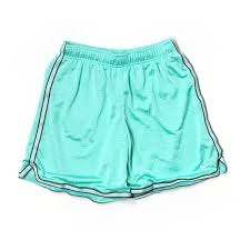 light blue nike shorts pre owned nike athletic shorts size 12 light blue women s