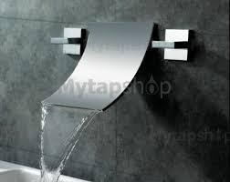 Waterfall Widespread Contemporary Bathroom Sink Tap Chrome Finish - Bathroom tap designs