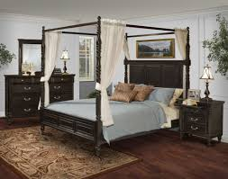 Bed Set With Drawers by Martinique Rubbed Black Canopy Bedroom Set With Drapes From New