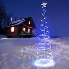 6ft 5ft clear led lighted spiral tree color option