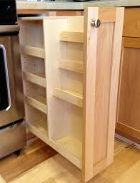 Spice Racks For Kitchen Cabinets Custom Made Pull Out Spice Rack Cabinet Must Be Closed On Back