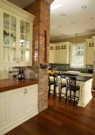Double Sided Kitchen Cabinets by We Used Same Brick Chimney And Made A Butlers Pantry On One Side