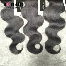 Grey Human Hair Extensions by 8a Unprocessed Silver Grey Ombre Human Hair Extensions Bq Hair 1b