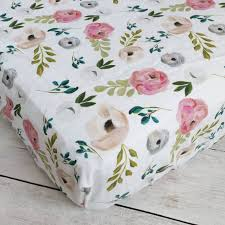 Floral Crib Bedding Sets Bedroom Floral Fitted Crib Sheet Baby Floral Crib Sheets