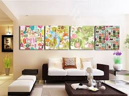 Hanging Art Prints Online Shop 4 Piece Plant Decorative Canvas Painting Living Room