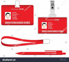 identity card design template and mockup psd prepared not scared