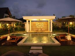 Patio Gazebo Ideas by T Shaped Swimming Pool With Modern Gazebo With Dining Area