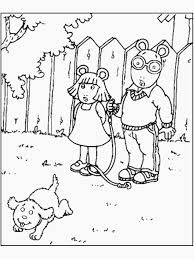 amusing arthur coloring pages print christmas halloween