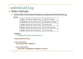 android log android logging system