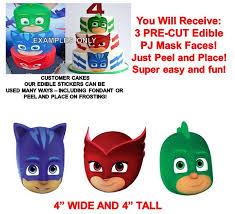 edible cake images pj masks edible cake stickers pj masks edible cut outs edible