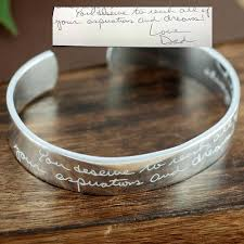 custom engraved necklaces custom handwriting jewelry memorial bracelet actual handwriting
