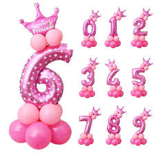 number balloons delivered pink blue number foil balloons digit air balls child birthday party