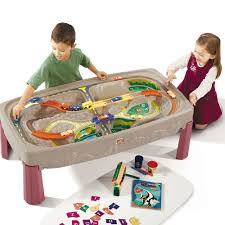 train table with cover parts for deluxe canyon road table kids pretend play step2