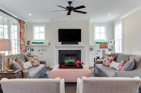 Built In Bookshelves Around Fireplace by Built In Cabinets Around Fireplace Family Room Traditional With