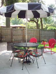 white patio table umbrella standpatio side round tables with hole