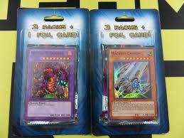 mystery yugioh blister pack 3 booster packs 1 foil card x2