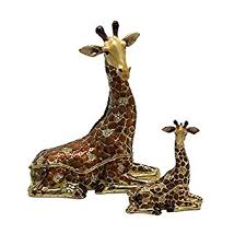 antique giraffe ring holder images Large swarovski crystal giraffe figurine jewelry box jpg
