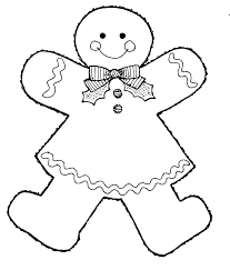 gingerbread baby clipart black and white clipartxtras