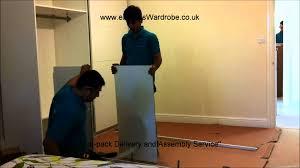 ikea wardrobes assembling ikea pax sliding door wardrobe youtube