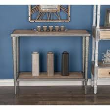 wood and metal sofa table american home modern metal and wood lattice console tables in
