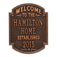 Signs And Plaques Home Decor Custom Address Plaques Address Signs The Home Depot
