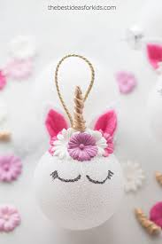 unicorn ornaments easy diy tutorial the best ideas for