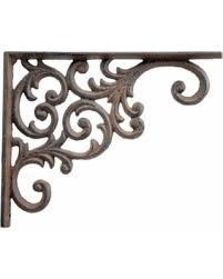 deal alert wall shelf bracket ornate vine pattern brown cast