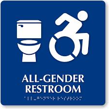 all gender bathroom sign my web value