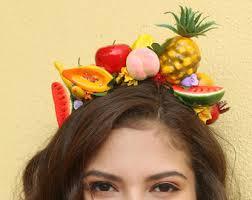 fruit headband pineapple crown headband fruit miss chiquita headband