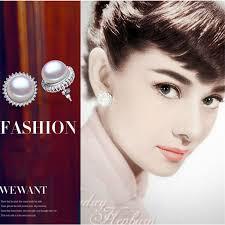 hepburn earrings yikalaisi 2017 100 freshwater pearl jewelry stud earrings