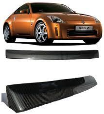 nissan 350z rear bumper amazon com nissan 350z z33 2d carbon fiber rear roof spoiler