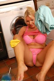 Red Milf Kitchen - milf with rubbergloves in kitchen free image