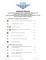 vehicle routes running with ed