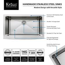 Cleaning Kitchen Faucet Stainless Steel Kitchen Sink Combination Kraususa Com