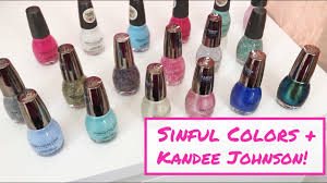 review demo nail swatches sinful colors kandee johnson nail
