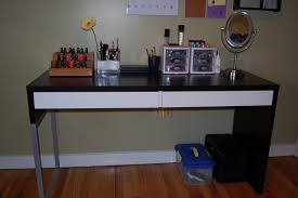 black makeup desk with drawers black makeup desk ikea brown dressing table malm best photos hd