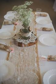 wedding reception tables 55 chic rustic burlap and lace wedding ideas deer pearl flowers