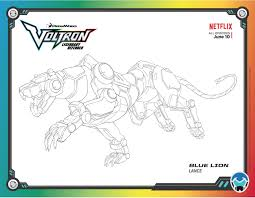 voltron legendary defender colouring page blue lion