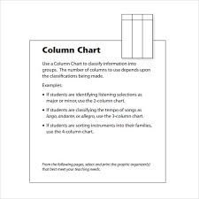 Four Column Chart Template by Sle Bar Chart 4 Documents In Pdf