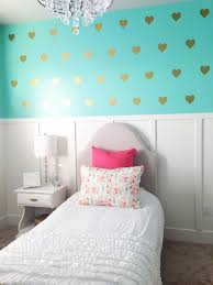 Wallpaper For Walls Teal And Pink Amazon Com Vinyl Wall Decals Removable Wall Stickers Hearts Gold