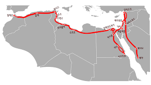 Mecca On Map File Travel Route Of Ibn Battuta From Tanger To Mecca Ko Svg