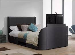 Bed Frame With Tv Built In Titanium T3 Tv Bed Frame With Samsung Led Tv Dreams Bedroom