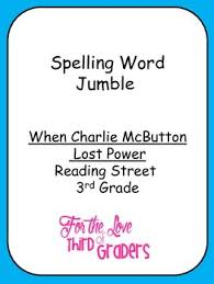 unit 1 spelling words jumble reading street 3rd grade leveled
