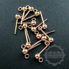 not on the high earrings 3mm earrings with open ring gold filled high quality